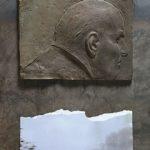 №14. metal, bronze, printing on paper  70 х 40