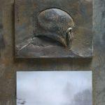 №16. metal, bronze, printing on paper  70 х 40
