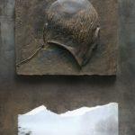 №18. metal, bronze, printing on paper  70 х 40