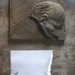 №6. metal, bronze, printing on paper  70 х 40